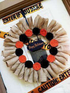 DIY Halloween : DIY Burlap Halloween Wreath DIY Halloween Decor