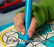Great website for improving hand writing grip and other fine motor skills