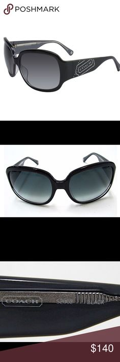 COACH Sunglasses in Black (Authentic) *Brand:COACH *Model:S2002 *Lens Color:SMOKE GRADIENT *Temple/Frame Color:001 BLACK *Gender:FEMALE *Size: 57x17x125  *Lens: 57mm  *Bridge: 17mm  *Temple: 125mm        *ONLY WORN A FEW TIMES* GOOD CONDITION! 🕶        Sorry I lost the case, but do have them in a black hard shell case. *Open to REASONABLE OFFERS! Coach Accessories Sunglasses