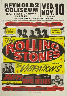 The Rolling Stones! Check out the ticket prices. Move the decimal over two places to the right and you have todays prices.