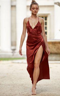 7781e95199a0 Copper Leo Maxi Dress - SilkFred Copper Dress, Formal Dresses, Wedding  Dresses, Metallic