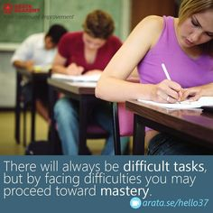 There will always be difficult tasks but by facing difficulties you may proceed toward mastery. http://arata.se/hello37  __________________________________________________________________________ #ArataAcademy #ArataAcademyENGLISH #edtech #elearning #instadaily #Mastery #PhotoOfTheDay #PicOfTheDay #Productivity #SeiitiArata #SelfDevelopment #Tasks #Mastery #difficulties