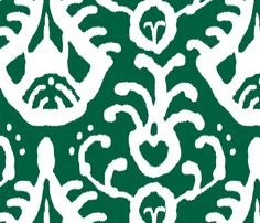 Ikat in emerald by d