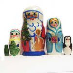 Ded Moroz (Father Frost) Nesting Doll