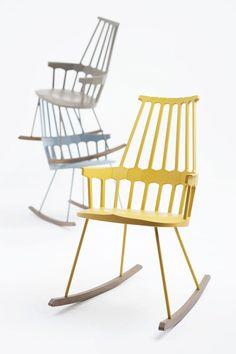 krzesła Kartell Comback proj. Patricia Urquiola, perfekcyjny mix stylu i codziennego życia #stół #kartell #krzesła #kolorowe #jadalnia #jadalnie #salon #wnętrza #miejsca #stoły #białe #biel #biało #mix #drewniane #czerwony #czerwone #żółty #żółte #szary #oryginalne