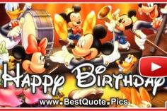Happy Birthday With Mickey Mouse Orchestra Video Free Happy Birthday Song, Singing Birthday Cards, Birthday Wishes Songs, Happy Birthday Mickey Mouse, Birthday Wishes For Kids, Funny Happy Birthday Wishes, Happy Birthday Pictures, Free Birthday, 6th Birthday Girls
