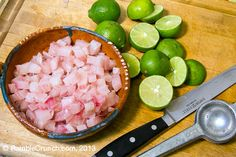 How to prepare fish for ceviche, Mexican ceviche Clean Recipes, Fish Recipes, Seafood Recipes, Mexican Food Recipes, Appetizer Recipes, Cooking Recipes, Healthy Recipes, Appetizers, Yummy Recipes