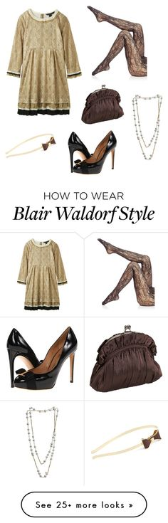 """blair waldorf must pie"" by shanice-ashley on Polyvore featuring Carolina Bucci, Wolford, Salvatore Ferragamo, L. Erickson and J. Furmani"