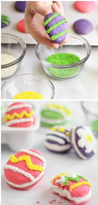 DIY Easter egg-shaped whoopie pies (Sprinkle Bakes).
