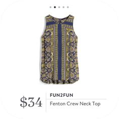 **** Pictures just don't do this adorable shirt justice!  LOVE this blue, yellow and white floral print top.  The back has a cute ruffle, peplum detail which is very flattering and adorable.  I almost passed this one up until I tried it on!  Stitch Fix Fall, Stitch Fix Spring 2016 2017. Stitch Fix Fall Spring fashion. #StitchFix #Affiliate #StitchFixInfluencer