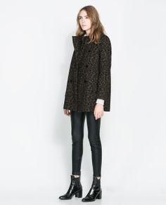 CABAN CROISÉ IMPRIMÉ (Zara)