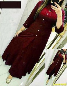 * Type : Kurti * Top Fabric : Rayon * Top : Semi-Stitched * Top Color : Maroon * Top Length : Knee Length * ToP Size : Free Size Upto 44 * Skirt Fabric: Cotton * Skirt Color: Maroon * Skirt Flare/Ghera: M Quality Guarantee Wash Care : Kurti Skirt, Dress Skirt, Salwar Designs, Dress Designs, Churidhar Designs, Mehndi Designs, Blouse Designs, Gown Party Wear, Simple Gowns