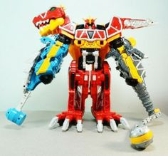 Dino Charge Zord Bunpachy as the Left Arm of the Main Megazord (Kyo Ryujin)