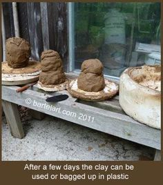 How to Find, process, and fire clay without a kiln Ceramic Techniques, Pottery Techniques, Porcelain Clay, Ceramic Clay, Paper Clay, Clay Art, Clay Projects, Clay Crafts, Pottery Kiln