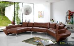 The Jupiter sectional sofa has a ledge on the back which allows for even more seating! Take a look: http://moderncontempo.com/jupier-contemporary-leather-sectional-sofa.html#.Uz73NFea8V4