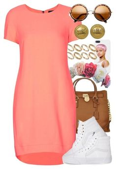 A fashion look from January 2015 featuring Topshop dresses, Vans sneakers and Michael Kors shoulder bags. Browse and shop related looks. Dope Outfits, Swag Outfits, Stylish Outfits, Girl Outfits, Fashion Outfits, Fashion Clothes, Fashion Tips, Fashion Killa, Look Fashion