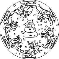mandalas zum ausdrucken winter