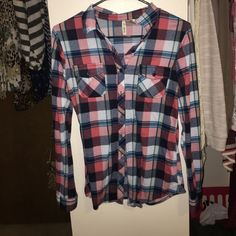 Flannel Comfiest flannel you will ever wear! Vanity Tops Button Down Shirts
