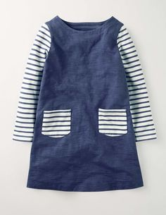 Stripy Jersey Dress 33453 Clothing at Boden