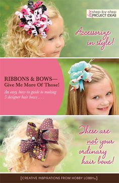 An easy, how-to guide to making 5 designer hair bows . . .