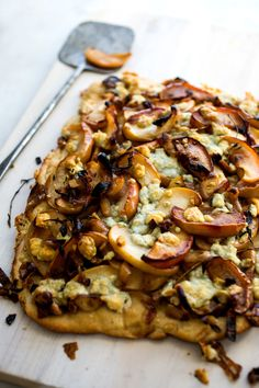 Recipe: Roasted apple, shallot and blue cheese tart || Photo: Andrew Scrivani for The New York Times
