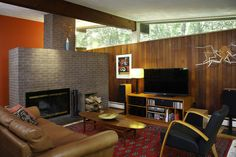Image result for mid century modern living room pictures