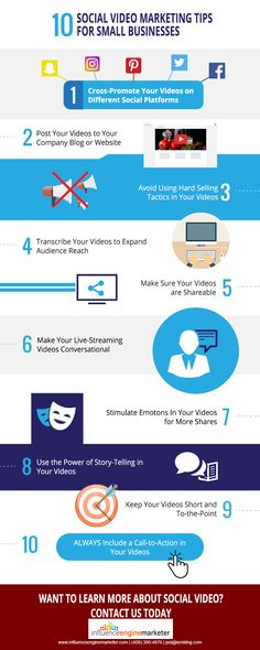 10 SOCIAL VIDEO MARKETING TIPS FOR SMALL BUSINESS  Here the tips to avoid using hard selling tactics in your videos, For more information about Social Video markering go to: http://www.influenceenginemarketer.com/video-marketing/ or http://www.influenceenginemarketer.com/  #IEM #Tips #SmallBusiness #VideoMarketing #PromoteVideos #Marketing