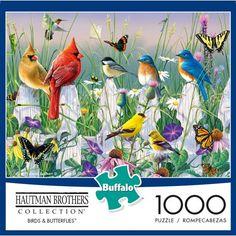 Buffalo Games, Puzzle Shop, Colorful Birds, Leaf Shapes, Puzzle Pieces, Blue Bird, 1000 Piece Jigsaw Puzzles, Printable Letters, Free Printable