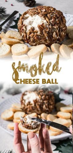 Wood smoked flavor mixed into a creamy softened cheese spread makes the perfect party appetizer. This simple to prepare Smoked Cheese Ball made with gouda, cream cheese, and covered in crushed pecans is a delicious spread. Cheese Appetizers, Easy Appetizer Recipes, Appetizers For Party, Brunch Recipes, Drink Recipes, Unique Recipes, Easy Recipes, Delicious Recipes, Charleston Cheese Dips