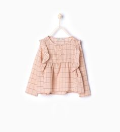 Frilly blouse-Shirts-Girl-Kids | 4-14 years-KIDS | ZARA Hungary
