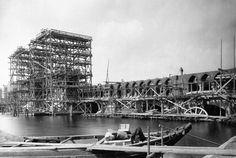 Berlin, Oberbaumbrücke im Bau, 1895