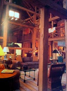 I never thought that the inside of a barn could look this... homey.