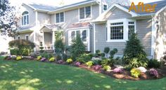 landscaping ideas for front of house | Landscape Design - Old Tappan lawn maintenance | New Jersey ...