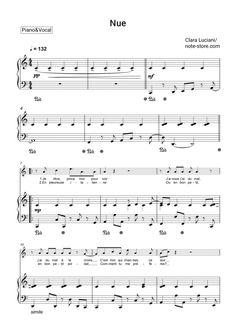 Clara Luciani - Nue sheet music for piano [PDF] Music Sheets, Piano Sheet Music, Printable Sheet Music, Piano Tutorial, Karaoke, Lyrics, Pdf, Notes, Singing