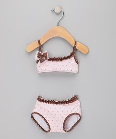 Azul Swimwear Pink Twinkle Twinkle Bandeau Bikini - Infant & Toddler by Azul Swimwear #zulily #zulilyfinds