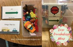 Little Miss Kimberly Ann: Core Vocabulary Tubs/ Activities