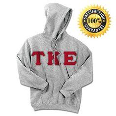 Tau Kappa Epsilon Fraternity Standard Lettered Hoody | Something Greek | #TauKappaEpsilon #fraternitymerchandise #standards #somethinggreek