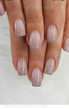 Glitter Gel Nail Designs For Short Nails For Spring 2019 - Gel Nails Short - Best Nail Art Designs, Toe Nail Designs, Pedicure Designs, Short Nail Designs, Pedicure Nail Art, Manicure At Home, Cute Toe Nails, My Nails, Neon Nails