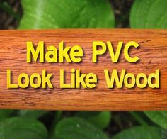 I came up with this simple trick to give PVC pipe a realistic wood texture when I built a few plastic didgeridoos a couple of years ago. It would also work for...