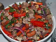 Dinner tonight is from Cook It In Cast Iron cookbook. It's marinated steak tips with charred peppers and onions. I subbed out the meat for meal starters steak strips to make it vegetarian / vegan.