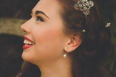 Gioia Mia 'Helena' headband, Swarovski pearl and rhinestone hairpins, 'Semplice' earrings http://www.gioiamia.net Image by Charmaine Gittens Photography and Makeup