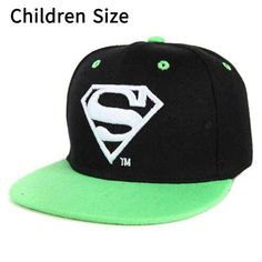 Superman Cartoon Snapback Caps Adult   Child Baseball Hat Bone For Boys  Girls Hip fb1dacae2f99