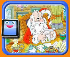 Santa Reads Letters from Children -  25 Piece Online jigsaw puzzle for kids