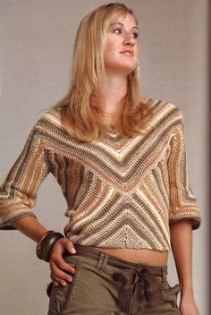Great top - Beauty in Geometry by Dora Ohrenstein - from an old book called 100 Crochet Projects