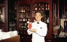 The famous Singapore Sling orginated in the Long Bar of the Raffles Hotel in Singapore