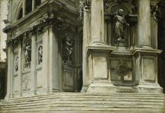 Santa Maria della Salute, Venice by John Singer Sargent The Fitzwilliam Museum      Date painted: c.1904/1908  The Fitzwilliam Museum