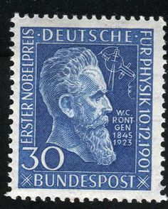 Germany 1951 Discovered X Rays German Stamps Stamp Collecting Postage