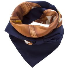 RALPH LAUREN BLUE Printed Scarf ($190) ❤ liked on Polyvore