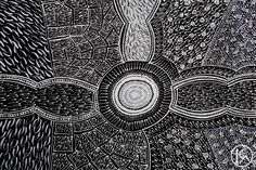 """Sandhill and Bullock Dreaming"" by Corinne Nampijinpa Ryan 76cm x 46cm $550"
