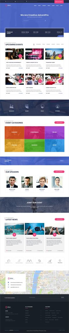 EM4U is clean and modern design responsive WordPress theme for #event and #conference website with 9 different homepage layouts to live preview & download click on Visit   #WordPressThemes